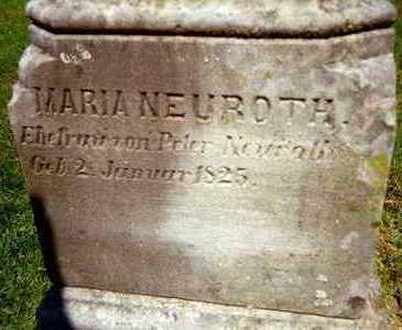 NEUROTH, MARIA - Jackson County, Iowa | MARIA NEUROTH