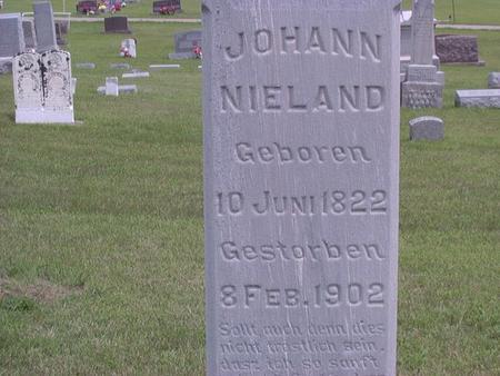 NIELAND, JOHANN - Jackson County, Iowa | JOHANN NIELAND