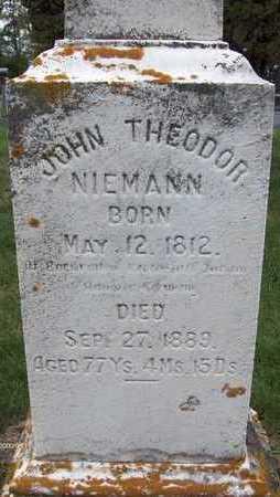 NIEMANN, JOHN THEODOR - Jackson County, Iowa | JOHN THEODOR NIEMANN