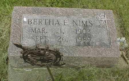 NIMS, BERTHA E. - Jackson County, Iowa | BERTHA E. NIMS