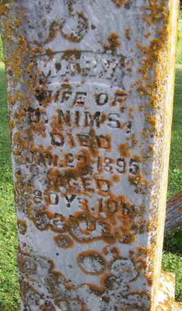 NIMS, MARY - Jackson County, Iowa | MARY NIMS