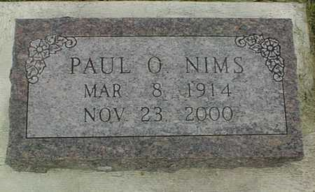 NIMS, PAUL O. - Jackson County, Iowa | PAUL O. NIMS
