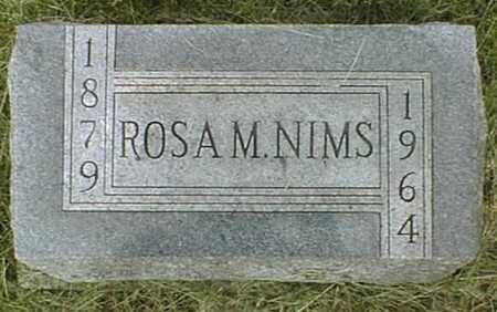 NIMS, ROSA M. - Jackson County, Iowa   ROSA M. NIMS
