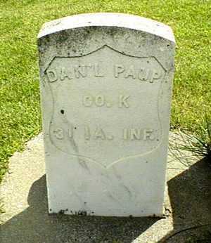 PAUP, DANIEL - Jackson County, Iowa | DANIEL PAUP