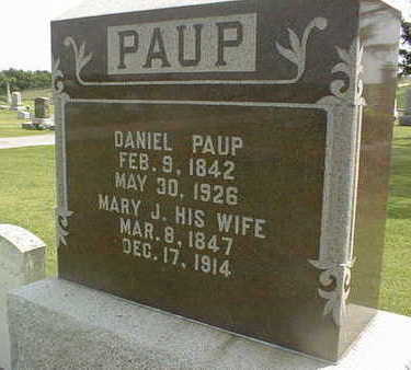 PAUP, MARY J. - Jackson County, Iowa | MARY J. PAUP