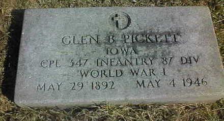 PICKETT, GLEN B. - Jackson County, Iowa | GLEN B. PICKETT