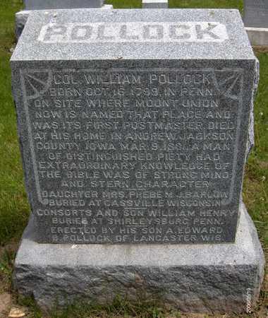 POLLOCK, WILLIAM (COL.) - Jackson County, Iowa | WILLIAM (COL.) POLLOCK