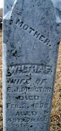 PROCTOR, WILTHA F. - Jackson County, Iowa   WILTHA F. PROCTOR