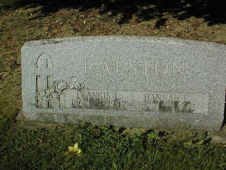 RALSTON, HANNAH E. - Jackson County, Iowa | HANNAH E. RALSTON