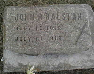RALSTON, JOHN R. - Jackson County, Iowa   JOHN R. RALSTON