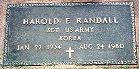 RANDALL, HAROLD E. - Jackson County, Iowa | HAROLD E. RANDALL
