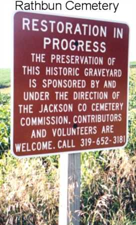 RATHBUN, CEMETERY - Jackson County, Iowa | CEMETERY RATHBUN