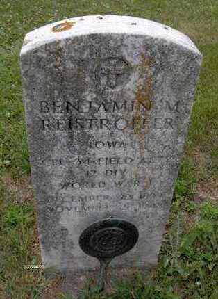 REISTROFFER, BENJAMIN M. - Jackson County, Iowa   BENJAMIN M. REISTROFFER