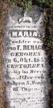 REMACKEL, MARIA - Jackson County, Iowa | MARIA REMACKEL