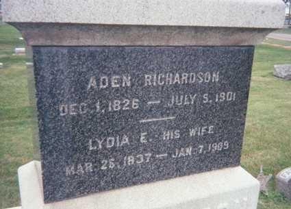 RICHARDSON, LYDIA E. - Jackson County, Iowa   LYDIA E. RICHARDSON