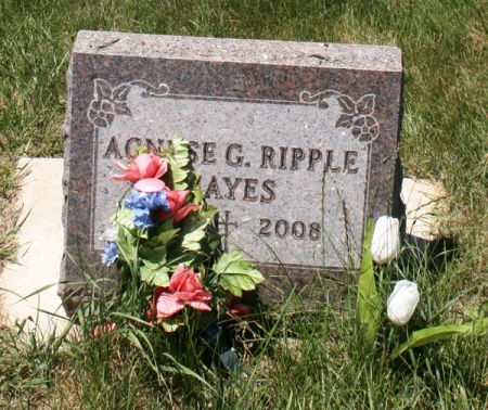 RIPPLE HAYES, AGNESE G. - Jackson County, Iowa | AGNESE G. RIPPLE HAYES