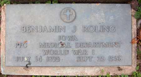 ROLING, BENJAMIN J. - Jackson County, Iowa | BENJAMIN J. ROLING