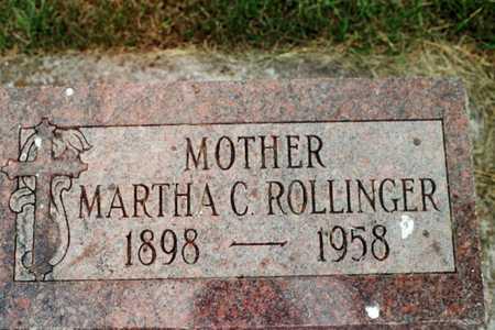 ROLLINGER, MARTHA C. - Jackson County, Iowa   MARTHA C. ROLLINGER