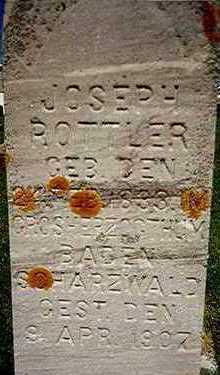 ROTTLER, JOSEPH - Jackson County, Iowa | JOSEPH ROTTLER