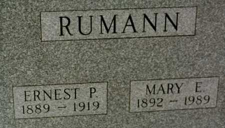 RUMANN, MARY E. - Jackson County, Iowa   MARY E. RUMANN