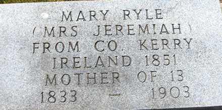 RYLE, MARY - Jackson County, Iowa   MARY RYLE