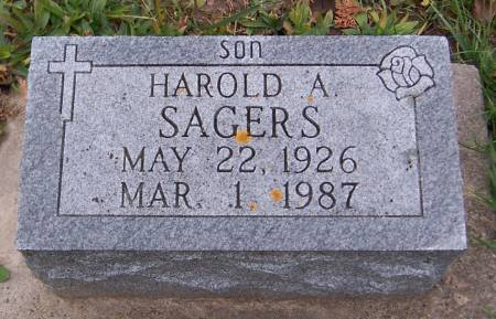 SAGERS, HAROLD A. - Jackson County, Iowa | HAROLD A. SAGERS