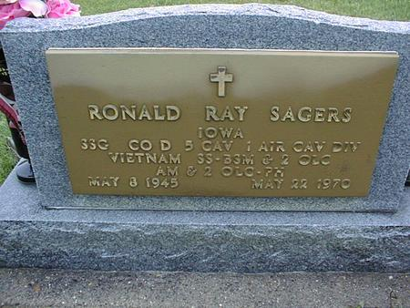 SAGERS, RONALD RAY - Jackson County, Iowa | RONALD RAY SAGERS