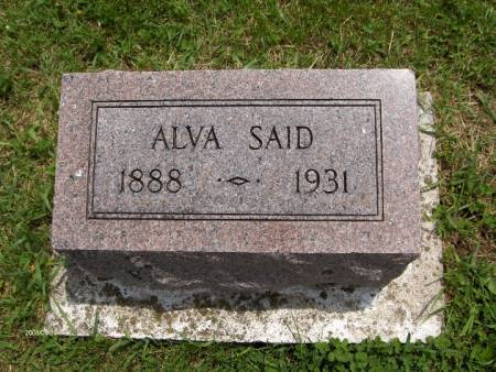 SAID, ALVA - Jackson County, Iowa | ALVA SAID