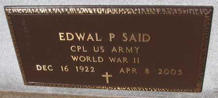SAID, EDWAL P. - Jackson County, Iowa   EDWAL P. SAID