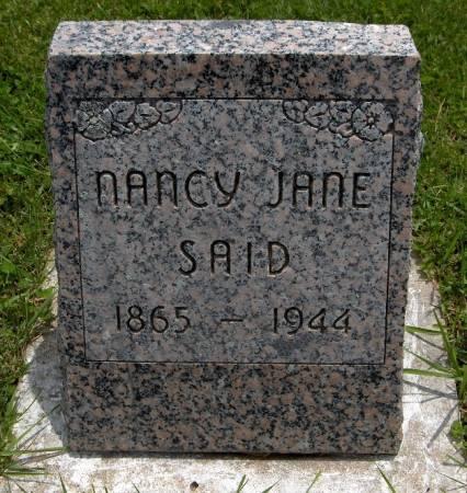SAID, NANCY JANE - Jackson County, Iowa | NANCY JANE SAID