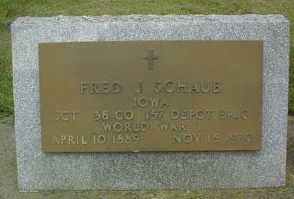 SCHAUB, FRED J. - Jackson County, Iowa | FRED J. SCHAUB