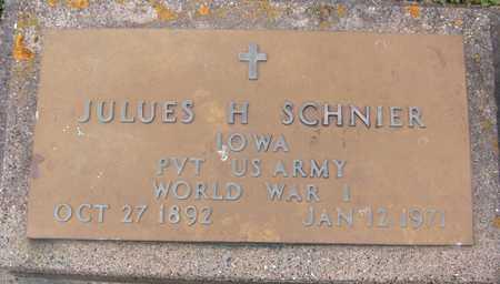SCHNIER, JULUES - Jackson County, Iowa   JULUES SCHNIER