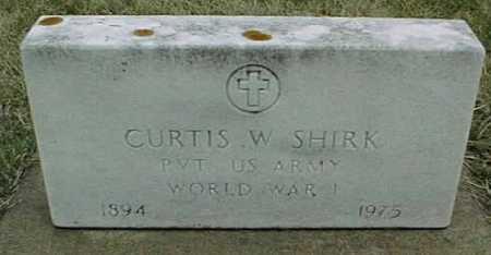SHIRK, CURTIS W. - Jackson County, Iowa   CURTIS W. SHIRK