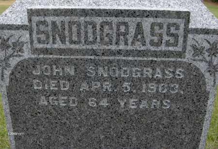 SNODGRASS, JOHN - Jackson County, Iowa | JOHN SNODGRASS