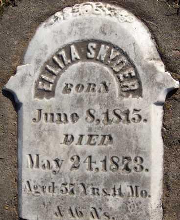 SNYDER, ELLIZA - Jackson County, Iowa | ELLIZA SNYDER