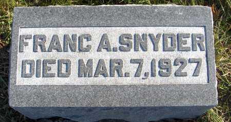 SNYDER, FRANC A. - Jackson County, Iowa | FRANC A. SNYDER