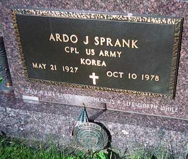 SPRANK, ARDO S. - Jackson County, Iowa   ARDO S. SPRANK