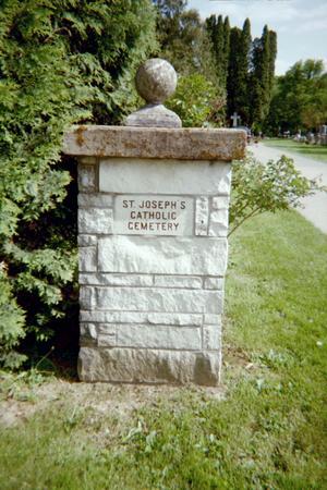 ST. JOSEPH'S CATHOLIC, CEMETERY - Jackson County, Iowa   CEMETERY ST. JOSEPH'S CATHOLIC