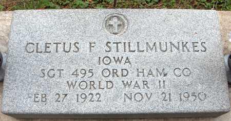 STILLMUNKES, CLETUS F. - Jackson County, Iowa   CLETUS F. STILLMUNKES