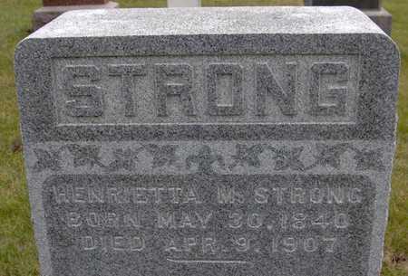STRONG, HENRIETTA M. - Jackson County, Iowa | HENRIETTA M. STRONG