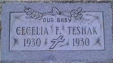 TESHAK, CECELIA F. - Jackson County, Iowa   CECELIA F. TESHAK