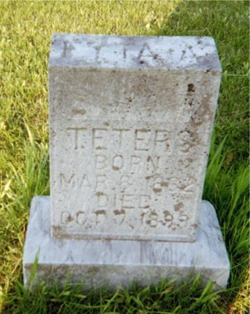 TETERS, MARY ETTA AUGUSTA - Jackson County, Iowa | MARY ETTA AUGUSTA TETERS
