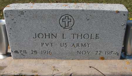 THOLE, JOHN L. - Jackson County, Iowa | JOHN L. THOLE