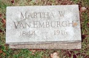 VAN EMBURGH, MARTHA W. - Jackson County, Iowa   MARTHA W. VAN EMBURGH