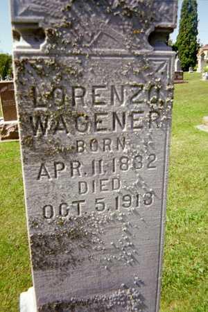 WAGENER, LORENZO - Jackson County, Iowa   LORENZO WAGENER