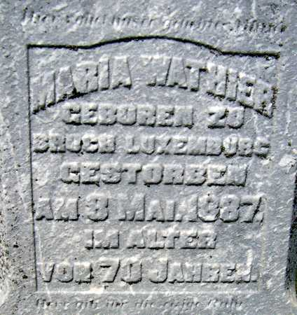 WATHIER, MARIA - Jackson County, Iowa | MARIA WATHIER