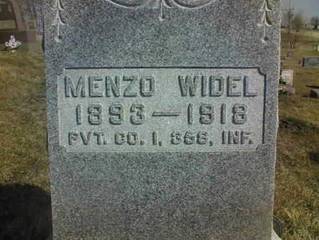 WIDEL, MENZO - Jackson County, Iowa   MENZO WIDEL
