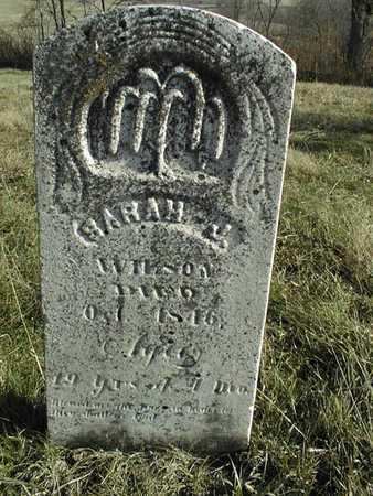 WILSON, SARAH JANE - Jackson County, Iowa   SARAH JANE WILSON
