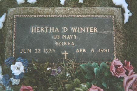WINTER, HERTHA D. - Jackson County, Iowa | HERTHA D. WINTER