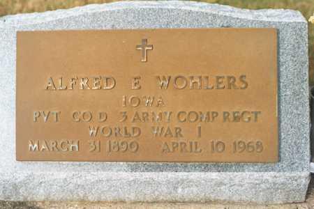 WOHLERS, ALFRED E. - Jackson County, Iowa   ALFRED E. WOHLERS
